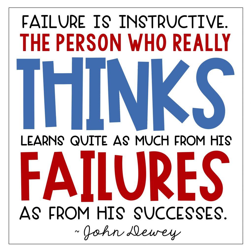 Preventing fear of failure