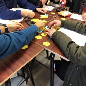 Hexagonal thinking activity