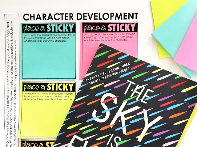 A quick activity for learning to analyze character
