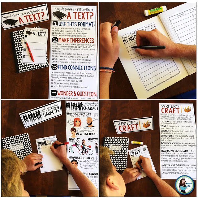 Teach students to write a response