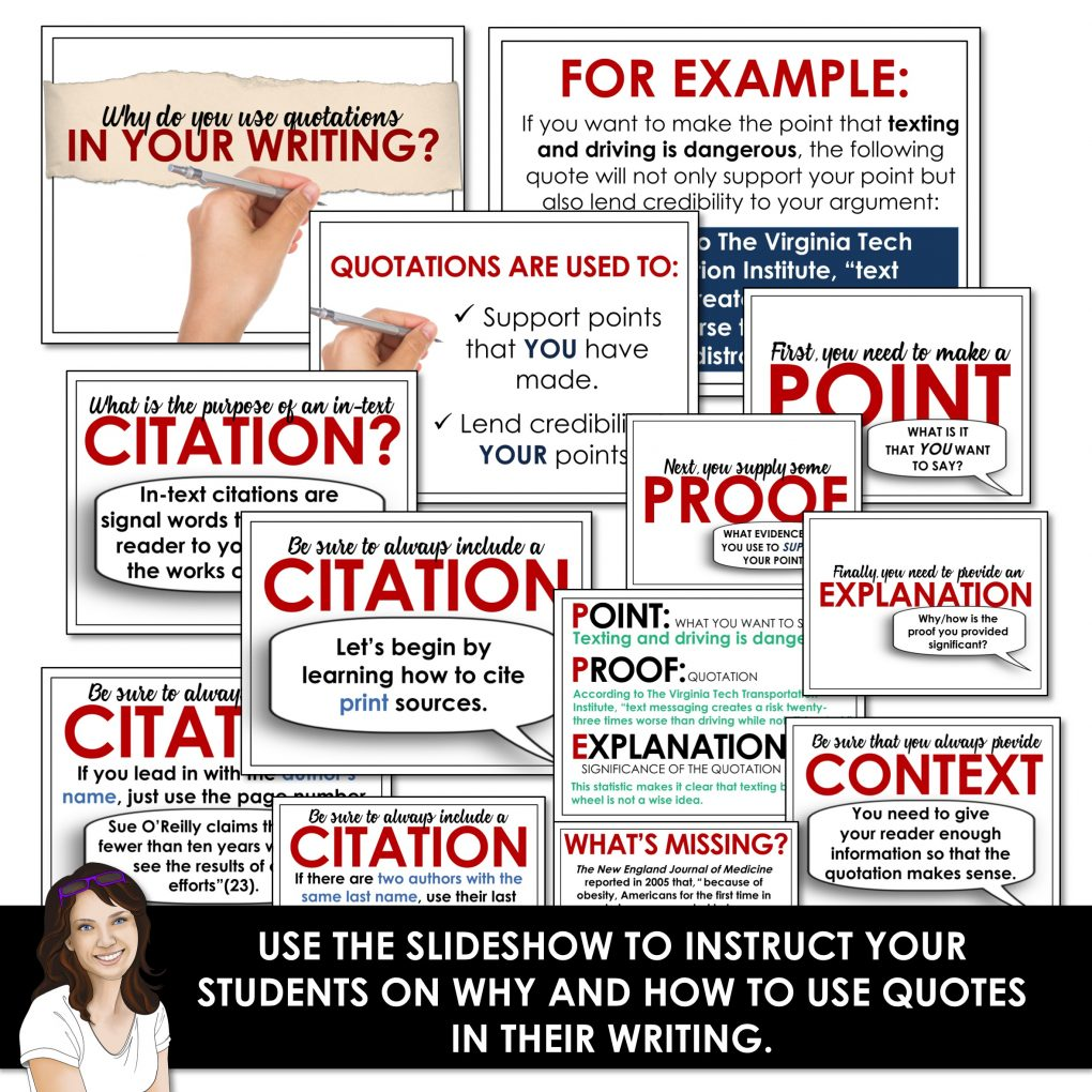 Embedding quotations distance learning