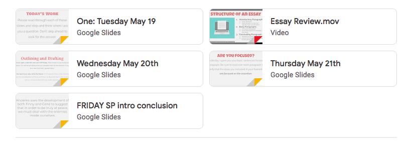 Organizing Google Classroom
