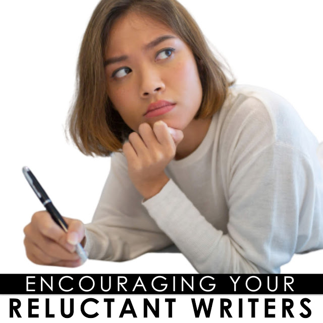Tips and strategies for encouraging reluctant writers.