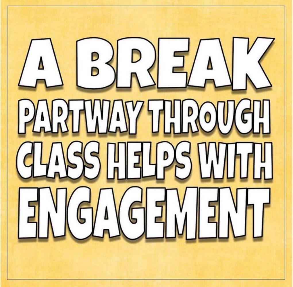 Giving students a break in class